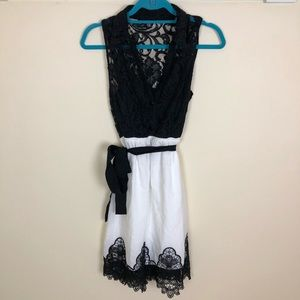 Dresses & Skirts - Black and white lace summer dress